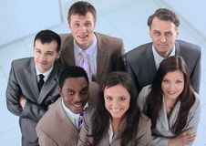 View from the top is unanimous business team Royalty Free Stock Photo