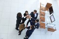 View from the top .unified business team. The concept of teamwork Stock Photo
