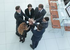 View from the top .unified business team. The concept of teamwork Royalty Free Stock Image