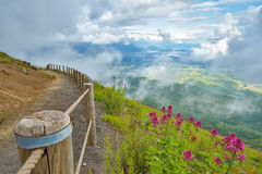 View from the top of the Vesuvius Volcano Stock Photos
