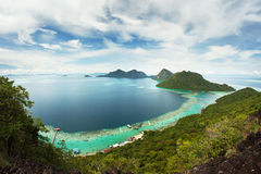 View from the top. Views of the islands from the top of an island Royalty Free Stock Image