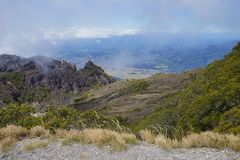 A view from the top of Volcan Baru, Panama Royalty Free Stock Image