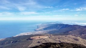 View from the top of volcano Teide - Tenerife Royalty Free Stock Photos