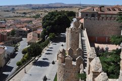 View from the top of the walls of Avila, Spain royalty free stock photo