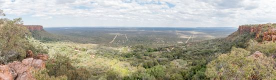 View from the top of the Waterberg Plateau near Otjiwarongo Stock Photo