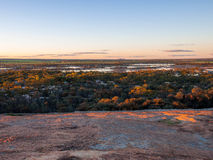 View at the top of the Wave Rock In Western Australia Stock Photo