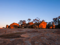 View at the top of the Wave Rock In Western Australia Royalty Free Stock Image
