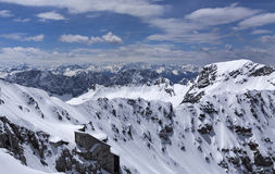 View from the top of the Zugspitze Royalty Free Stock Images