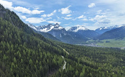 View from the top of the Zugspitze Stock Photo