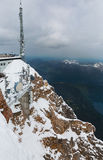 View from the top of the Zugspitze Royalty Free Stock Image