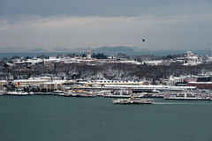 View Of Topkapi Palace Ä°stanbul From Galata Tower stock photography
