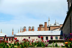 View of Topkapi Palace roofs Royalty Free Stock Photos