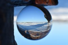 View of Torbay through a sphere Royalty Free Stock Photo