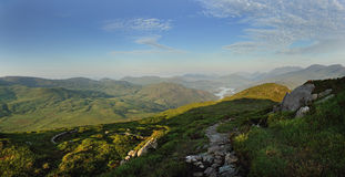 The View on Torc. The view on top of Torc Mountain, Co.Kerry, Ireland Stock Images
