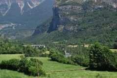 View of torla, huesca  spain Royalty Free Stock Photo