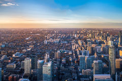 View of Toronto City from above - Toronto, Ontario, Canada. View of Toronto City from above in Toronto, Ontario, Canada stock photo