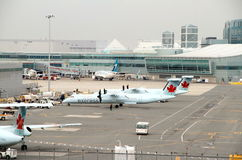 View of the Toronto Pearson Airport Tarmac Stock Photography