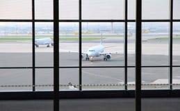View of the Toronto Pearson Airport Tarmac royalty free stock photos
