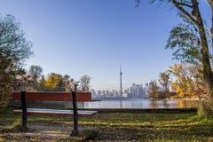 Autumn colors in Toronto island Ontario Canada