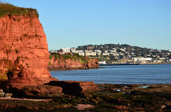 View of Torquay, Devon. From Red Rocks of Paignton, Torbay, England Stock Photos