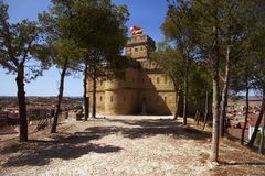 Torre de Salamanca tower in Caspe, Spain. A view of the Torre de Salamanca tower in Caspe, Spain, built in 1875 Royalty Free Stock Photos