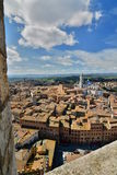 View from Torre del Mangia. Siena. Tuscany. Italy Stock Photography