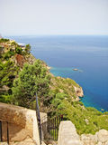 View from Torre del Verger, northwest of Majorca Stock Image