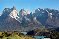 View of Torres del Paine Royalty Free Stock Photos
