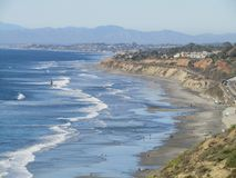 View of Torry Pines Beach  Royalty Free Stock Images