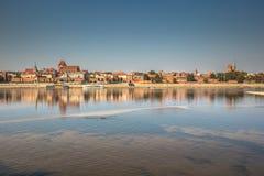 View on Torun old town over Vistula river, Poland.  Royalty Free Stock Photo