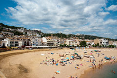 View of Tossa de Mar Catalunya Spain Royalty Free Stock Images