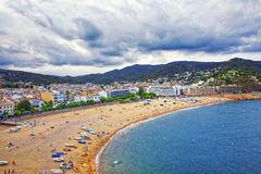 View of Tossa De Mar at stormy weather Stock Photography