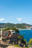 View of Tossa de Mar village from ancient castle Royalty Free Stock Photos