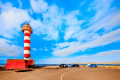 Toston lighthouse in El Cotillo at Fuerteventura Canary Islands Stock Photo