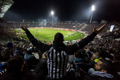 View of the Toumba Stadium full of fans of PAOK Stock Photo