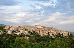 View at Tourettes-sur-Loup Stock Photography