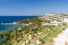 View of  tourist area on coast, Bodrum, Turkey Stock Photos