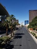 View of the tourist area on the main avenue of the city of Las Vegas, Nevada at day. Travel and tourism in the United States of America, style and design in royalty free stock photos