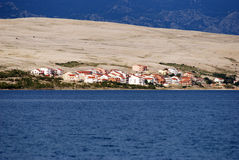 View at tourist resort on island Pag in Dalmatia,Croatia Stock Photos