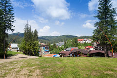 View of the tourist town of Predeal Royalty Free Stock Images