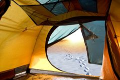 View from a touristic tent Stock Image