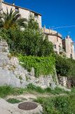 View of Tourrettes-sur-Loup. A medieval village in the Alpes-Maritimes department in southeastern France Royalty Free Stock Images