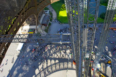 View on the toursits from the Eiffel tower Stock Photos