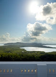 View toward El Yunque from lighthouse Stock Photo
