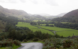 View toward Eskdale from HardKnott Pass Stock Photography