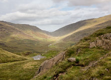 View toward Eskdale from HardKnott Pass Royalty Free Stock Photo
