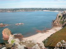 View toward St Brelades Bay, Jersey Stock Image