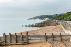 View towards Beachy Head in Eastbourne UK Royalty Free Stock Photo