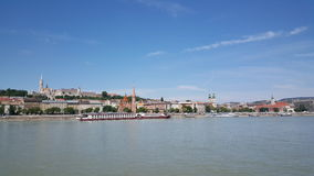View towards Buda. From Pest in Budapest Hungary royalty free stock image