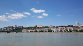 View towards Buda. From Pest in Budapest Hungary royalty free stock photos